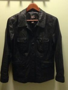 Women's black Danier leather jacket