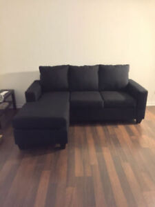Brand New Small Reversible Modern Sectional - Made in Canada