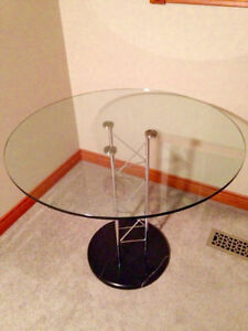 Italian design glass and marble dining table Cambridge Kitchener Area image 1