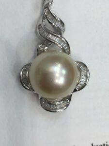 Diamond And South Sea Pearl Pendant