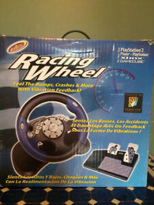 RAcing Wheel pour play station 2 PSone- XBOX- Game Cube.