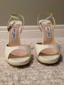 Brand New Authentic Jimmy Choo Sandals  Creamy white in colour.