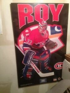 Poster Patrick Roy Laminated - Laminé HABS Vintage 90's