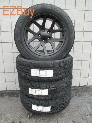 "20"" Dodge RAM 1500 SRT10 Style Black Wheels and 275 60 20 Goodyear Tires 2223"
