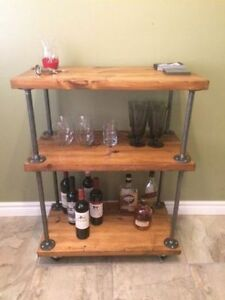Industrial bar cart, shelves, mantles and coffee tables! Kitchener / Waterloo Kitchener Area image 4
