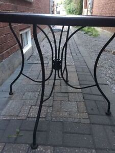 Solid wrought iron table - $50