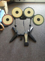 RockBand drum kit with The Beatles foot pedal