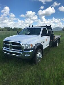 2015 Dodge Ram 5500 SLT, Regular Cab, Flat Deck, w/5th Wheel