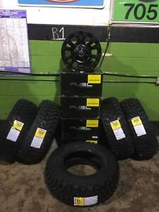"Jeep Wrangler 5 x 17"" Fuel Octane Alloy Rims & 5 Tire Packages"