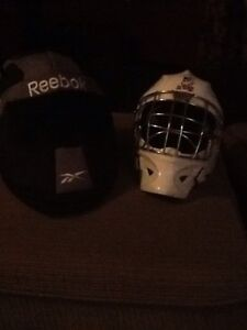 Goalie Helmet with Reebok Bag