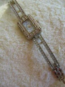 OLD VINTAGE ['80's] LADY'S GENEVA GEMMED FASHION WATCH