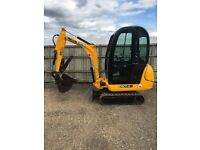 JCB 801.4cts Mini Digger Full cab 2010 Quick hitch, log grab. Nice clean digger.