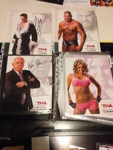 WWE WWF Wrestling Autographed photos