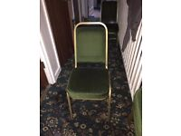 New Chairs Green Fabric Seat Metal construction