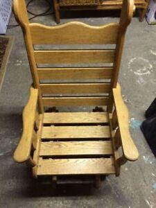 Solid Wood Kids Rocking Glider Chair
