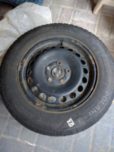 195 65 15 VW 5x112 Barum Polaris Winter Tire + Freebie