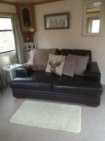 Dark brown Leather 2 seater