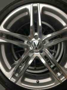 """brand new rims and tires 18"""" 5-100 VW"""