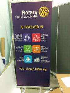 roll up banner, $75 including stand and printing!promotion