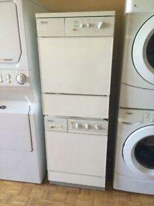 """24"""" Miele space saver washer & electrical dryer"""