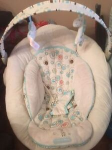 Baby Items- swing, high chair, baby bouncer, musical mobile