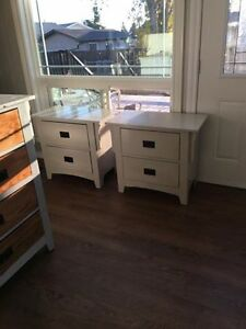 Pair of Solid Wood Nightstands - Refinished