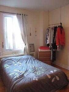 Très grande chambre, meublée, Plateau, temporaire