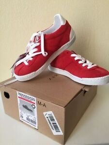 Brand new in box girls Zara leather tennis sneakers size 11.5