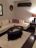 Beautiful couch sofa white cream leather like new