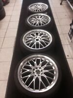 set of four rims brush chrome see pictue