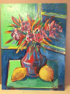 Set of 2 Serge Deherian Original Oil Paintings
