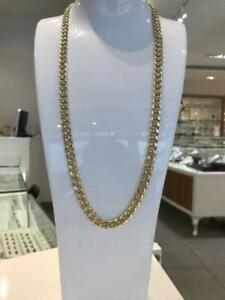 10k Yellow MIAMI Cuban Link 27 inches 8 mm 35.3 gr
