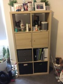 Ikea Kallax Bookshelves with Cupboard