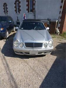 2001 MERCEDES CLK 320 CONVERTIBLE SAFETIED FOR $6450+HST TAX!