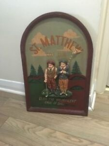 St. Matthew golf club vintage sign