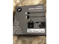 Goji Mains Phone Charger For Iphone, Ipod &Ipad Brand New