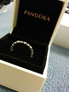 "Authentic Pandora "" Forever love"" Sterling Silver Ring Windsor Region Ontario image 1"