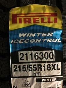 Brand New Pirelli Winter Ice Control 215/55R16XL