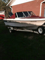 Sunray bow rider 16' boat, motor and trailer for sale