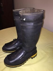 "GREAT CONDITION BAFFIN 15"" GEL SAFETY TOE & PLATE RUBBER BOOTS"