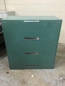 Classeur robuste 3 tiroirs vert