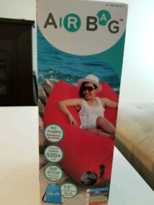 Air bag lounging chair - perfect for beach/long weekend camping