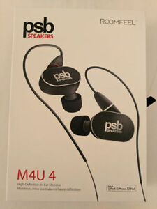PSB M4U 4 High Performance Earbud Headphones