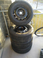 4 Used WinterTires on Rims  215/65/16  for Toyota Sienna