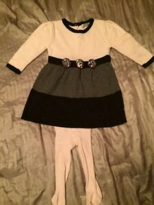 Like New! Adorable knit dress with tights