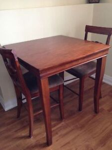 Pub Style Table with 2 Chairs