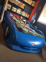 Twin race car bed.  Great shape asking 200 or obo