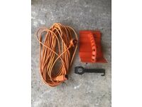 Flymo 19m used cable plus mulcher plug and blade spanner