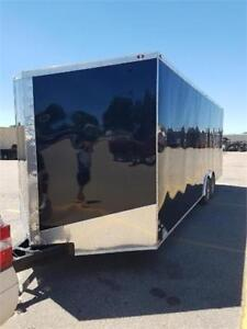 NEW 2019 8.5X24 AND 8.5X28 V NOSE ENCLOSED TRAILER CLEAROUT