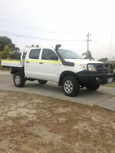 2011 Toyota Hilux KUN26R MY10 SR White 5 Speed Manual Utility Welshpool Canning Area Preview